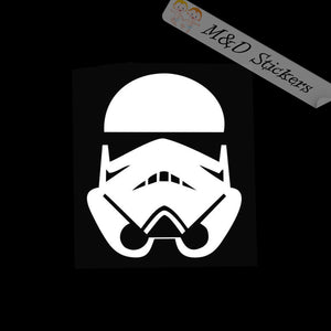 2x Stormtrooper Vinyl Decal Sticker Different colors & size for Cars/Bikes/Windows