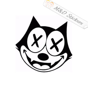 2x Felix the Cat Vinyl Decal Sticker Different colors & size for Cars/Bikes/Windows