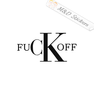 2x Fuck-off Fck Off F*ck Off Vinyl Decal Sticker Different colors & size for Cars/Bikes/Windows