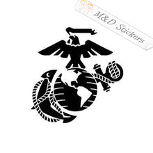 2x USMC Marines Logo Vinyl Decal Sticker Different colors & size for Cars/Bikes/Windows