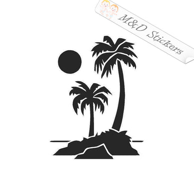 2x Palms Vinyl Decal Sticker Different colors & size for Cars/Bikes/Windows