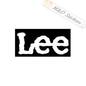 2x Lee Denim Jeans Clothing Logo Vinyl Decal Sticker Different colors & size for Cars/Bikes/Windows