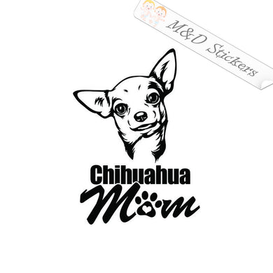 2x Chihuahua Mom Vinyl Decal Sticker Different colors & size for Cars/Bikes/Windows