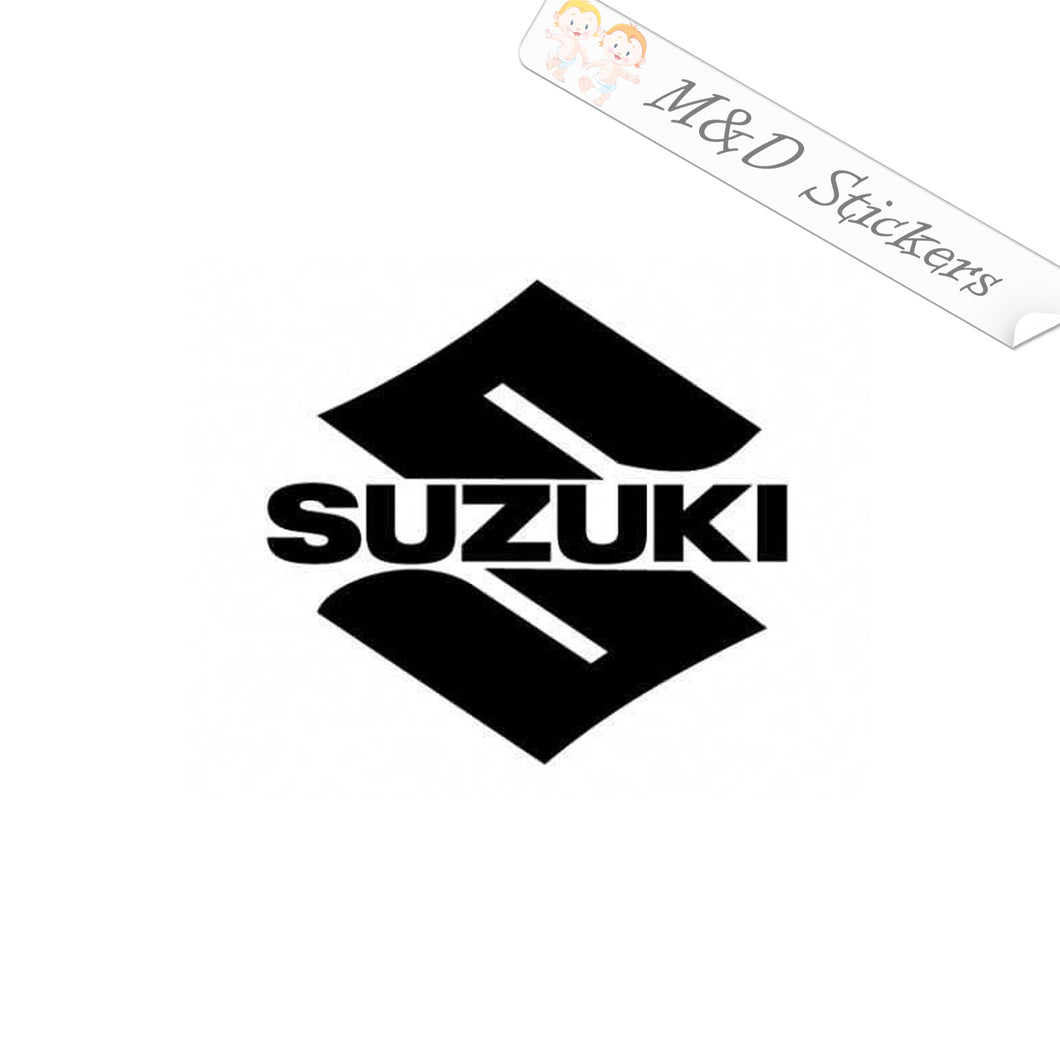 2x Suzuki S Logo Vinyl Decal Sticker Different colors & size for Cars/Bikes/Windows