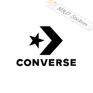 2x Converse Logo Vinyl Decal Sticker Different colors & size for Cars/Bikes/Windows