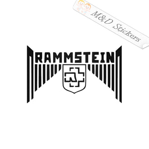 2x Rammstein Logo Vinyl Decal Sticker Different colors & size for Cars/Bike