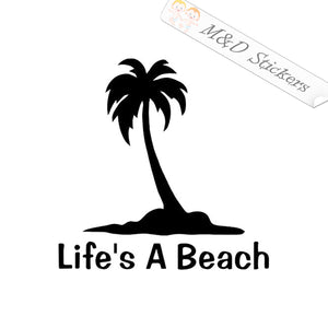 2x Life is a Beach Vinyl Decal Sticker Different colors & size for Cars/Bikes/Windows