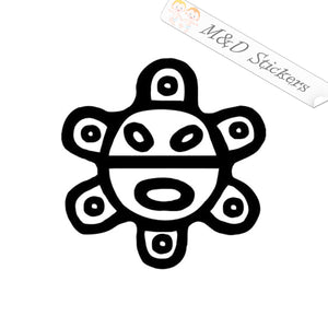 2x Puerto Rican Sol Taino sun Vinyl Decal Sticker Different colors & size for Cars/Bikes/Windows