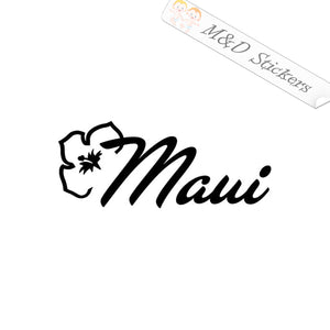 2x Maui Hawaiian island Decal Sticker Different colors & size for Cars/Bikes/Windows
