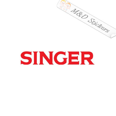 2x Singer sewing logo Vinyl Decal Sticker Different colors & size for Cars/Bikes/Windows
