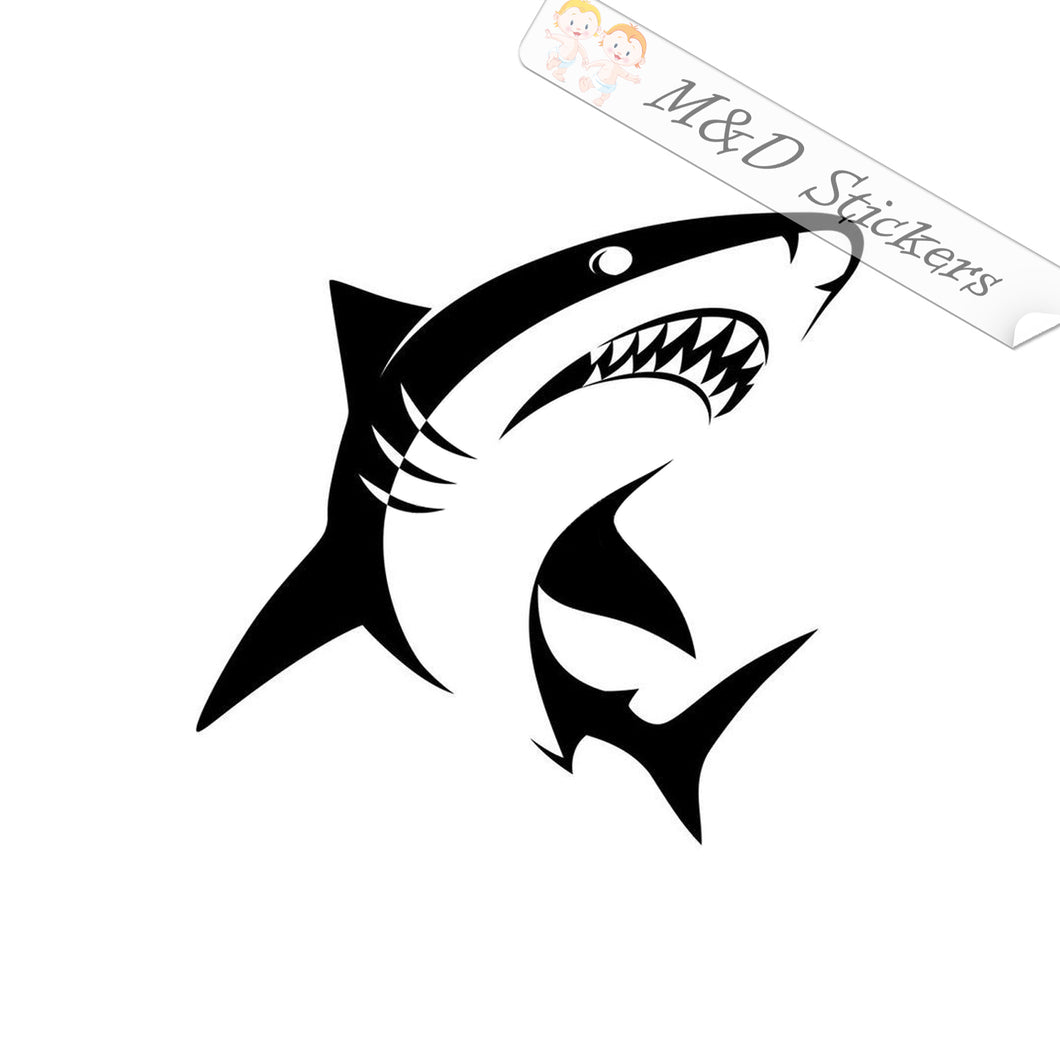 2x Shark Vinyl Decal Sticker Different colors & size for Cars/Bikes/Windows