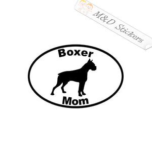 2x Boxer Mom Dog Vinyl Decal Sticker Different colors & size for Cars/Bikes/Windows