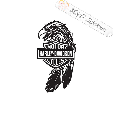 XL (extra large) Harley-Davidson Eagle Logo Vinyl Decal Sticker Different colors & size for Cars/Bikes/Windows