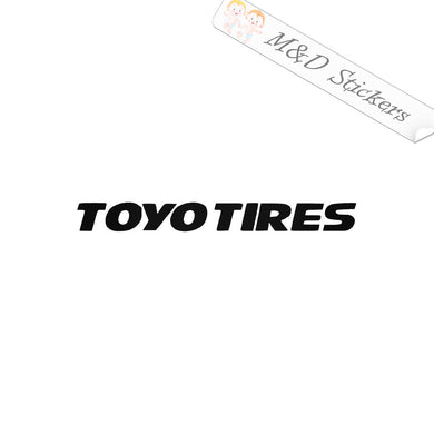 2x Toyo Tires Logo Vinyl Decal Sticker Different colors & size for Cars/Bikes/Windows