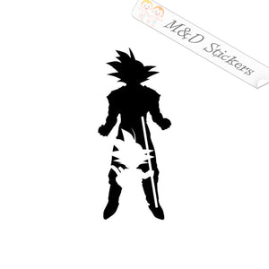 2x Goku Dragonball Z Vinyl Decal Sticker Different colors & size for Cars/Bikes/Windows