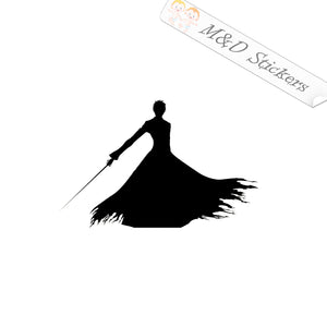 2x Bleach Ichigo Vinyl Decal Sticker Different colors & size for Cars/Bikes/Windows