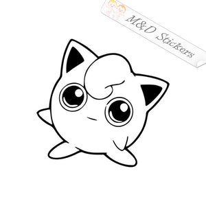 2x Wigglytuff Pokemon go Vinyl Decal Sticker Different colors & size for Cars/Bikes/Windows