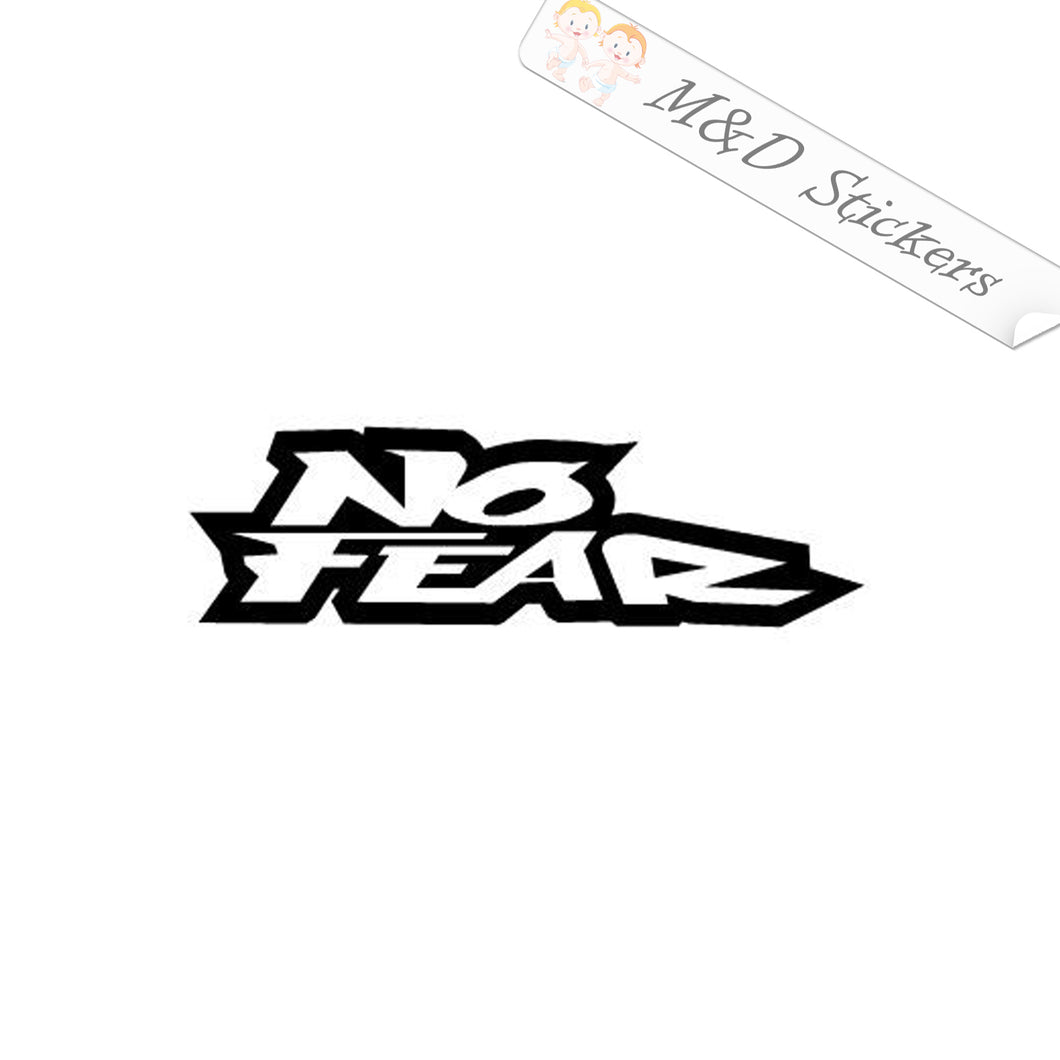 2x No fear Vinyl Decal Sticker Different colors & size for Cars/Bikes/Windows