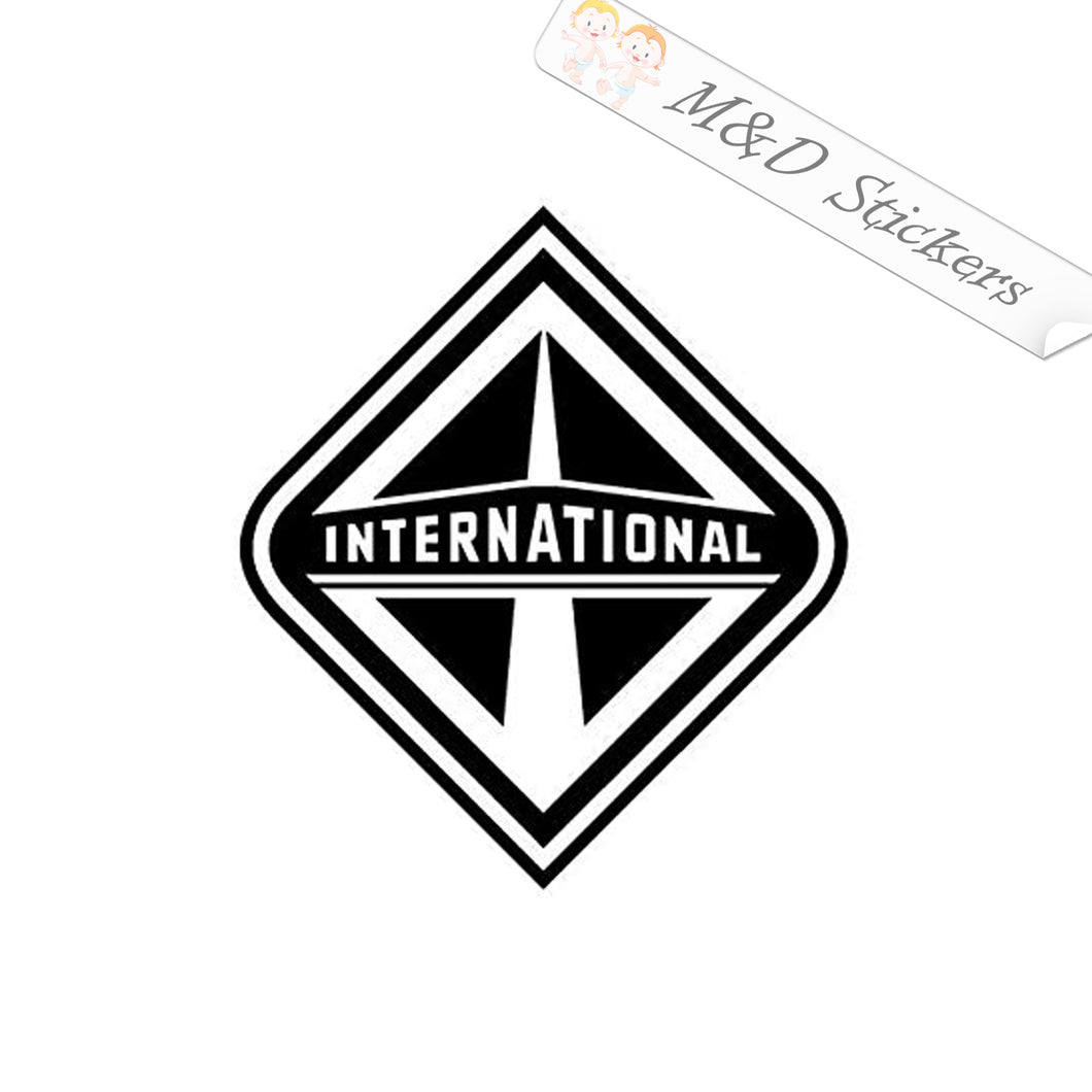 2x International Trucks Logo Decal Sticker Different colors & size for Cars/Bikes/Windows