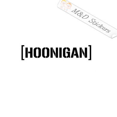 2x Hoonigan Vinyl Decal Sticker Different colors & size for Cars/Bikes/Windows