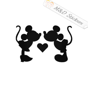 2x Love Mickey and Minnie Vinyl Decal Sticker Different colors & size for Cars/Bikes/Windows
