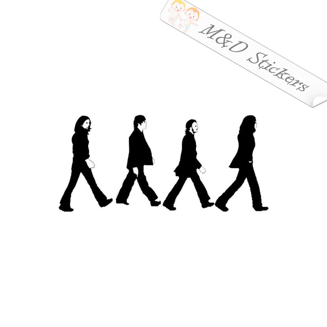 2x The Beatles The Liverpool four Vinyl Decal Sticker Different colors & size for Cars/Bike
