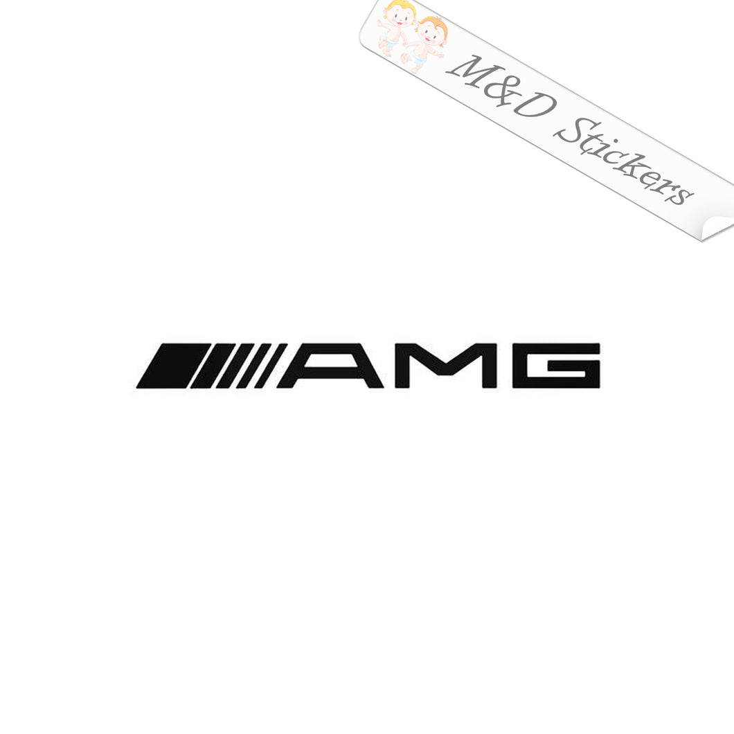 2x AMG Mercedes Vinyl Decal Sticker Different colors & size for Cars/Bikes/Windows