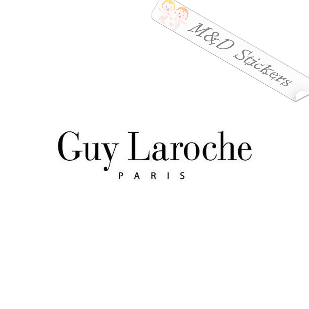 2x Guy Laroche Logo Vinyl Decal Sticker Different colors & size for Cars/Bikes/Windows