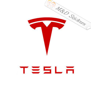 2x Tesla logo Decal Sticker Different colors & size for Cars/Bikes/Windows