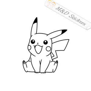 2x Pokemon Pikachu Vinyl Decal Sticker Different colors & size for Cars/Bikes/Windows