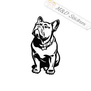 2x French bulldog Dog Vinyl Decal Sticker Different colors & size for Cars/Bikes/Windows