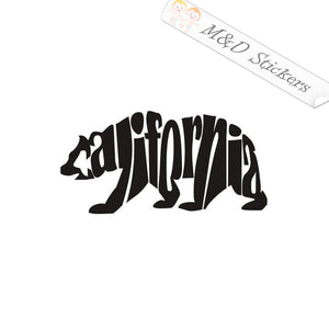 2x California Bear Vinyl Decal Sticker Different colors & size for Cars/Bikes/Windows