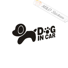 2x Dog on board Vinyl Decal Sticker Different colors & size for Cars/Bikes/Windows
