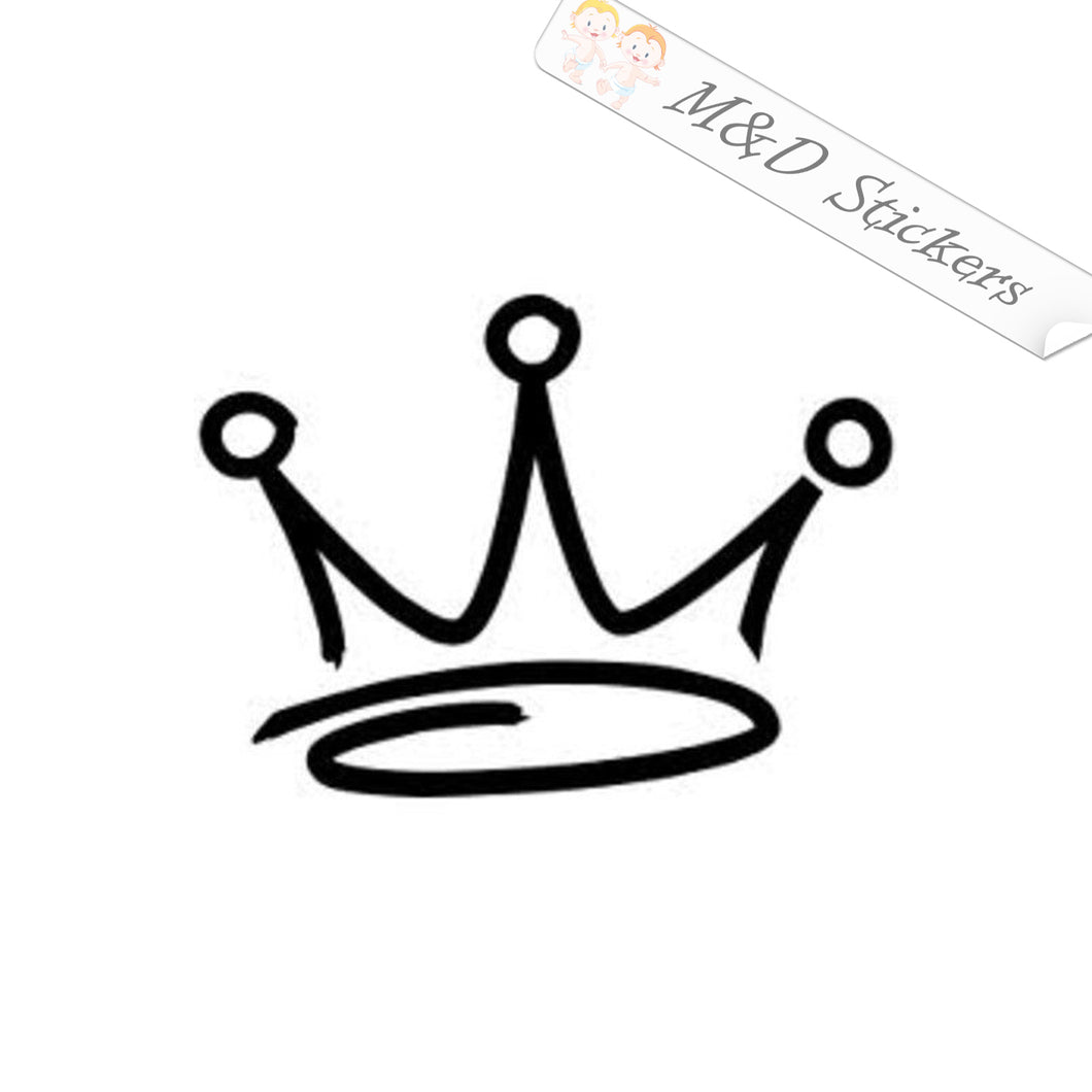 2x Crown Vinyl Decal Sticker Different colors & size for Cars/Bikes/Windows