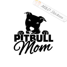 2x Pitbull Mom Dog Vinyl Decal Sticker Different colors & size for Cars/Bikes/Windows