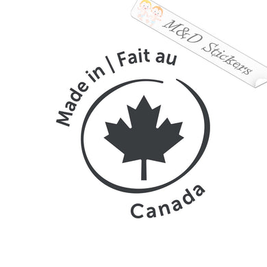 2x Made in Canada / fait au Canada Vinyl Decal Sticker Different colors & size for Cars/Bikes/Windows
