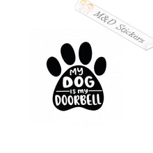 2x Dog Paw - doorbell Vinyl Decal Sticker Different colors & size for Cars/Bikes/Windows