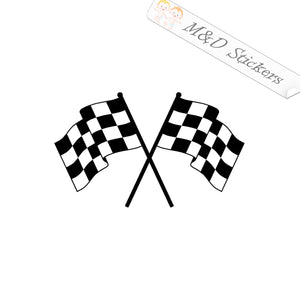 2x Checkered Flags Vinyl Decal Sticker Different colors & size for Cars/Bikes/Windows