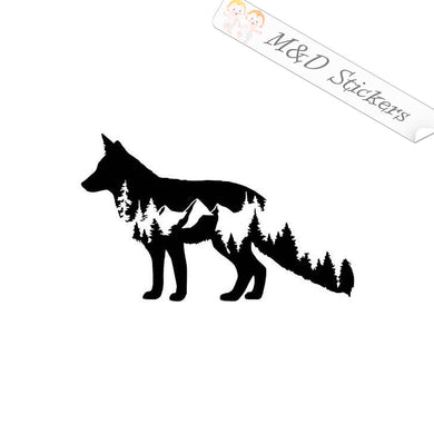 2x Wolf Nature Vinyl Decal Sticker Different colors & size for Cars/Bikes/Windows