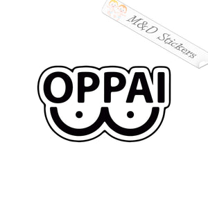 2x OPPAI Vinyl Decal Sticker Different colors & size for Cars/Bikes/Windows