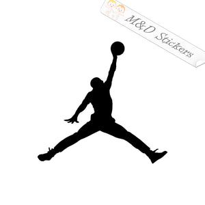 2x Air Jordan Logo Vinyl Decal Sticker Different colors & size for Cars/Bikes/Windows