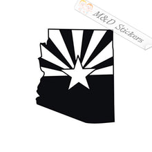 2x Arizona State Flag and state shape Vinyl Decal Sticker Different colors & size for Cars/Bikes/Windows