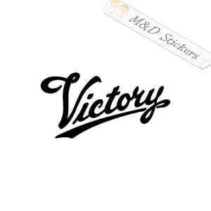 2x Victory Motorcycles Logo Vinyl Decal Sticker Different colors & size for Cars/Bikes/Windows