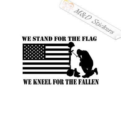 2x American Flag We stand for the Flag Vinyl Decal Sticker Different colors & size for Cars/Bikes/Windows
