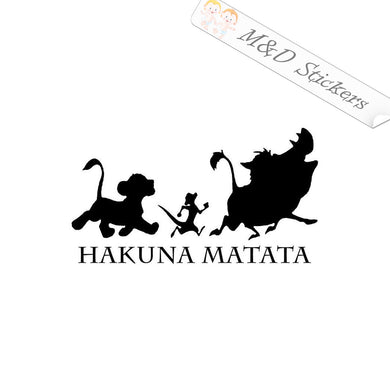 2x Hakuna Matata Vinyl Decal Sticker Different colors & size for Cars/Bikes/Windows