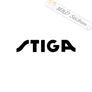 2x Stiga Logo Vinyl Decal Sticker Different colors & size for Cars/Bikes/Windows