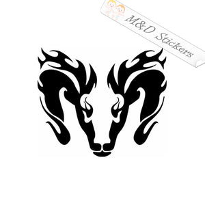 2x Female Ram Vinyl Decal Sticker Different colors & size for Cars/Bikes/Windows