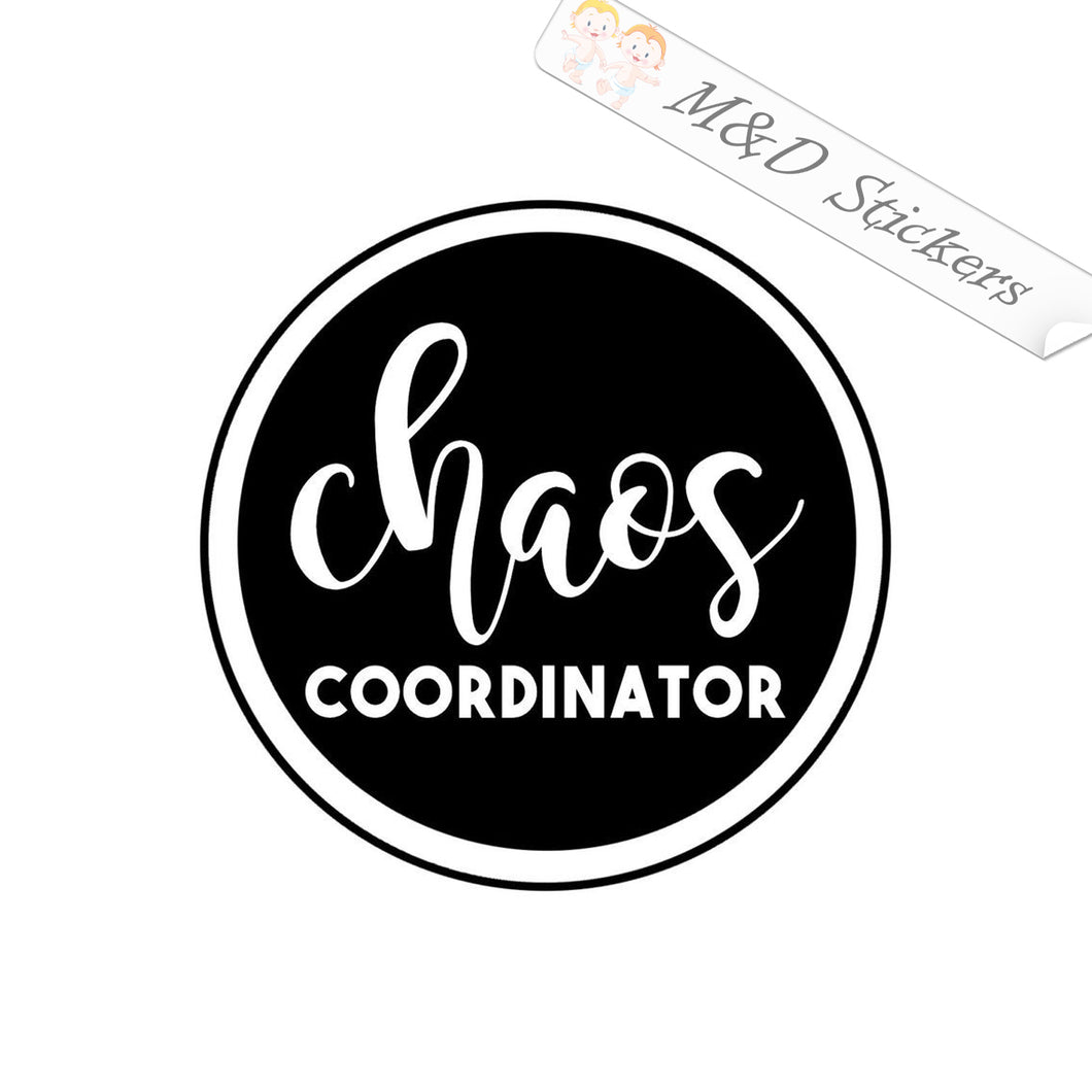 2x Chaos coordinator Vinyl Decal Sticker Different colors & size for Cars/Bikes/Windows