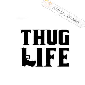2x Thug Life Vinyl Decal Sticker Different colors & size for Cars/Bikes/Windows