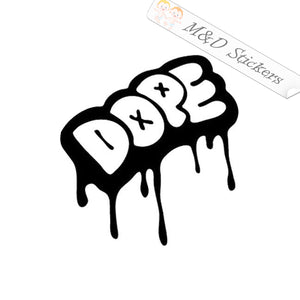2x Dope Vinyl Decal Sticker Different colors & size for Cars/Bikes/Windows